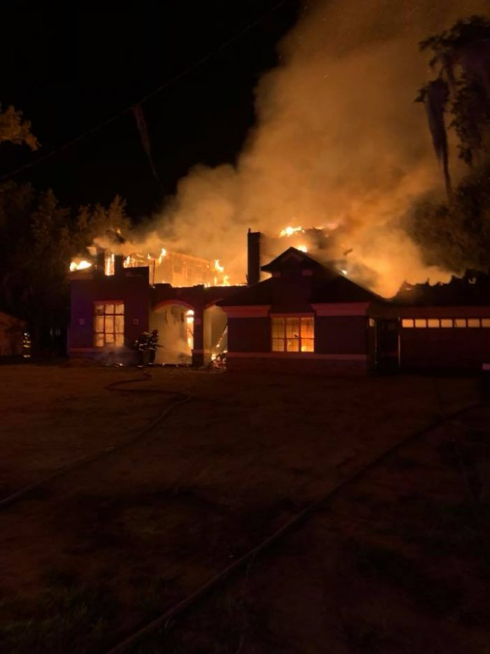 Early morning fire destroys luxury home