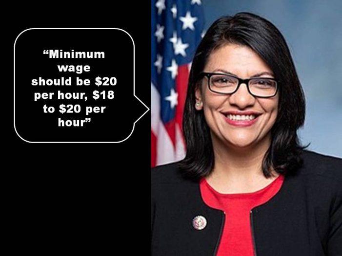 Rep. Rashida Tlaib demands $20 per hour minimum wage