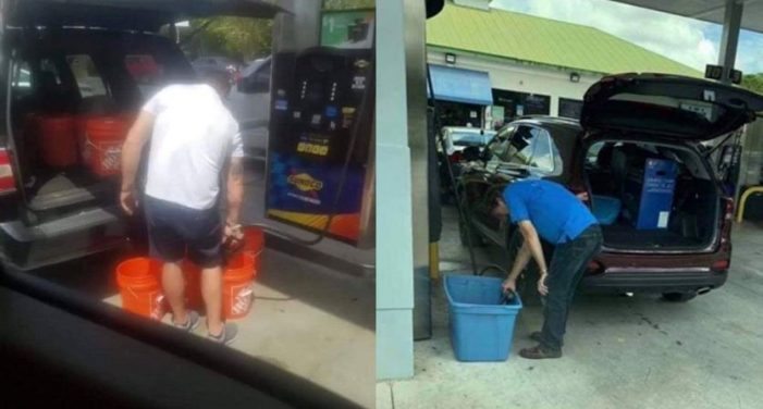 Florida man fills up bucket with gas, officials say it's illegal and unsafe