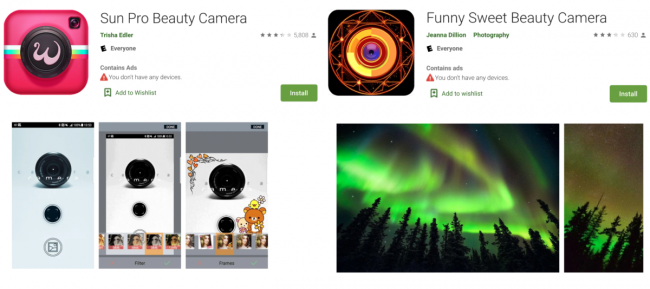 Two camera apps removed from Google Play, consumers should immediately delete them