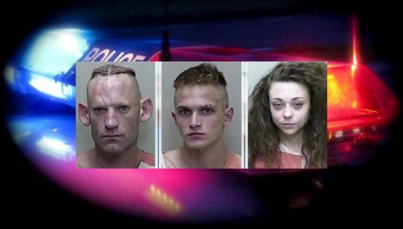 Traffic stop leads to three felon drug dealers being arrested