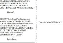 citrus gazette, lawsuit, gov desantis, florida schools