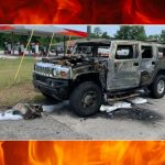 Hummer catches fire after Florida man loads gas containers, lights cigarette